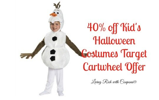 Halloween Coupons - 40% off Kid's Halloween Costumes Target Cartwheel OfferLiving Rich With Coupons®