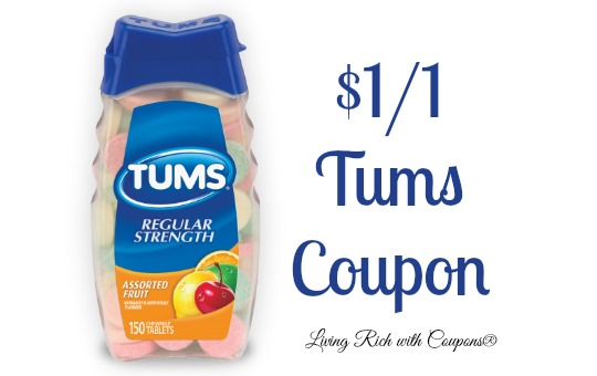 image about Tums Coupon Printable named Tums Coupon - $1/1 Tums Coupon -Residing Prosperous With Coupons®