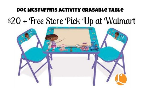 wal  sc 1 st  Living Rich With Coupons & Holiday Deals - Disney Doc McStuffins Table Set just $20 -Living ...